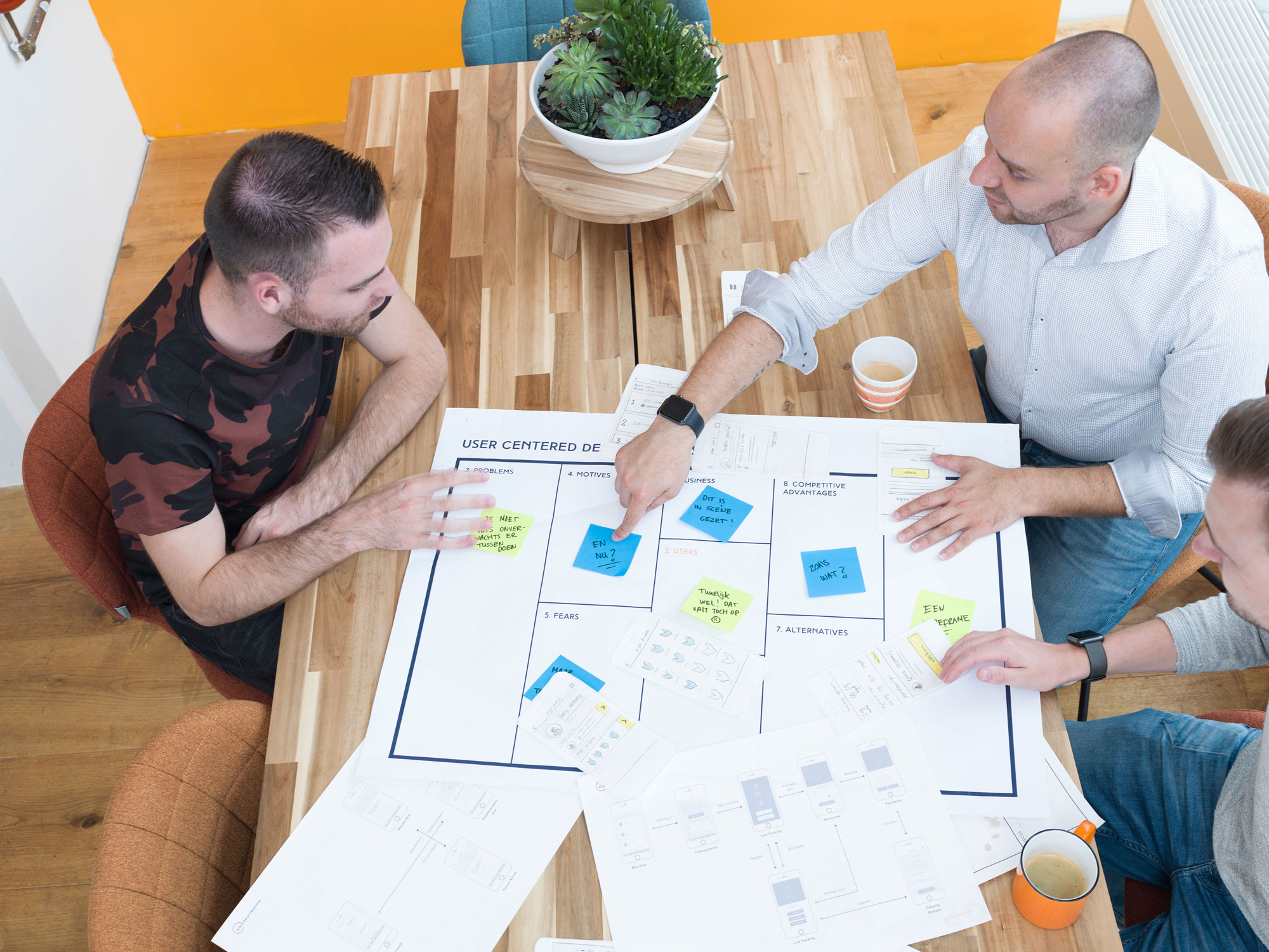 Journey map sessie aan tafel