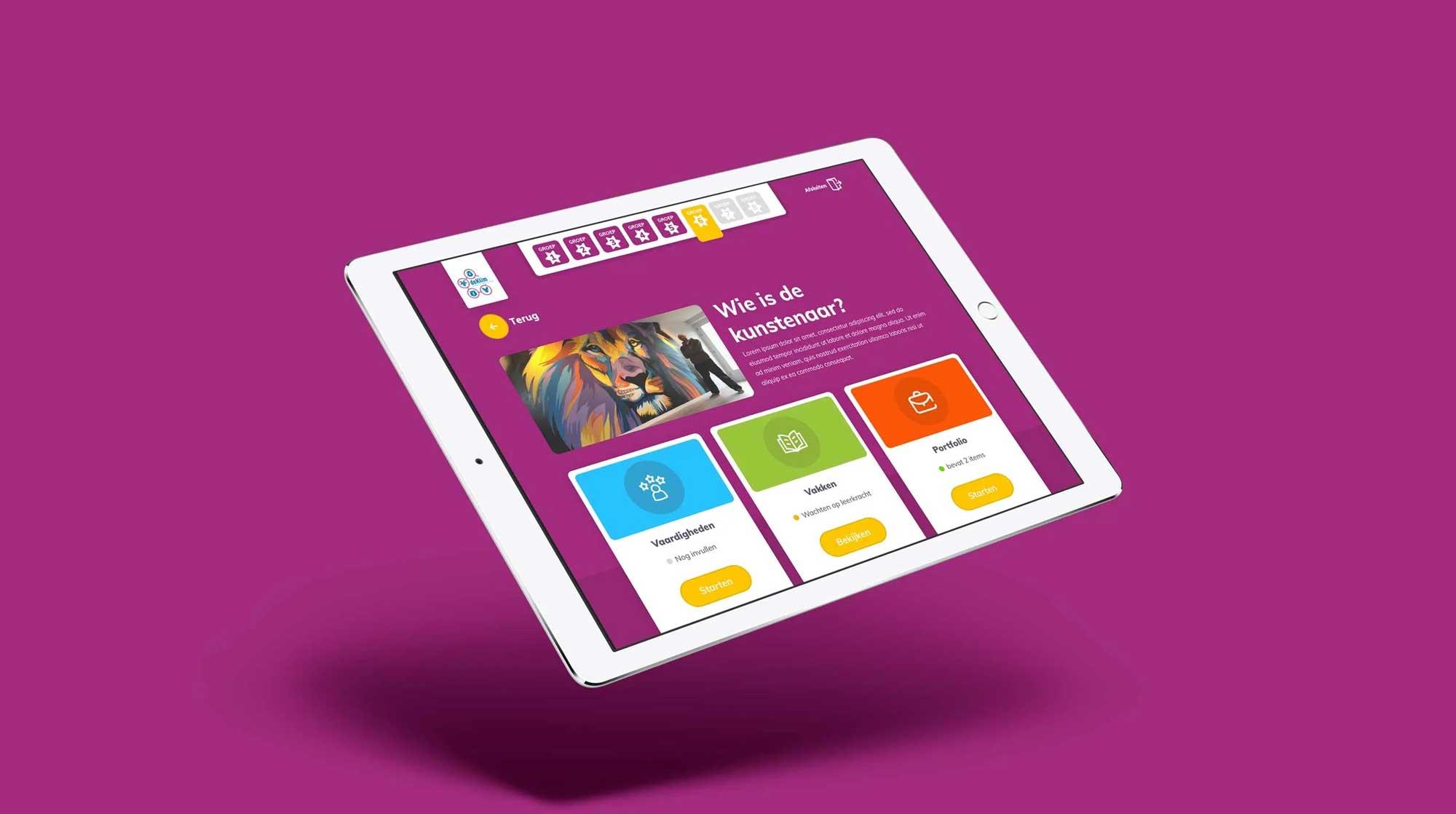 Mock-up tablet applicatie